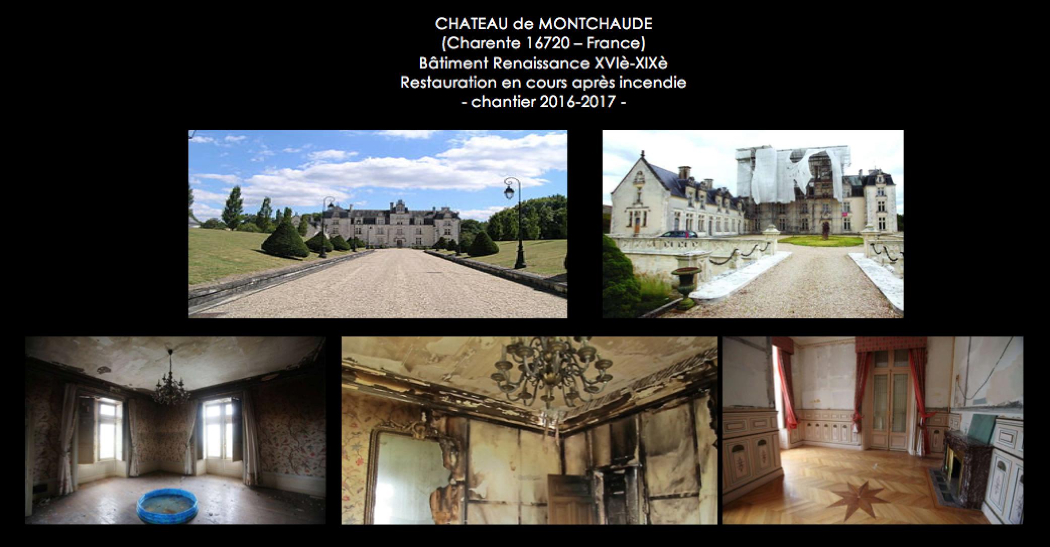 Restauration (Chantier 2017) Château de Montechaude (Charente) - France