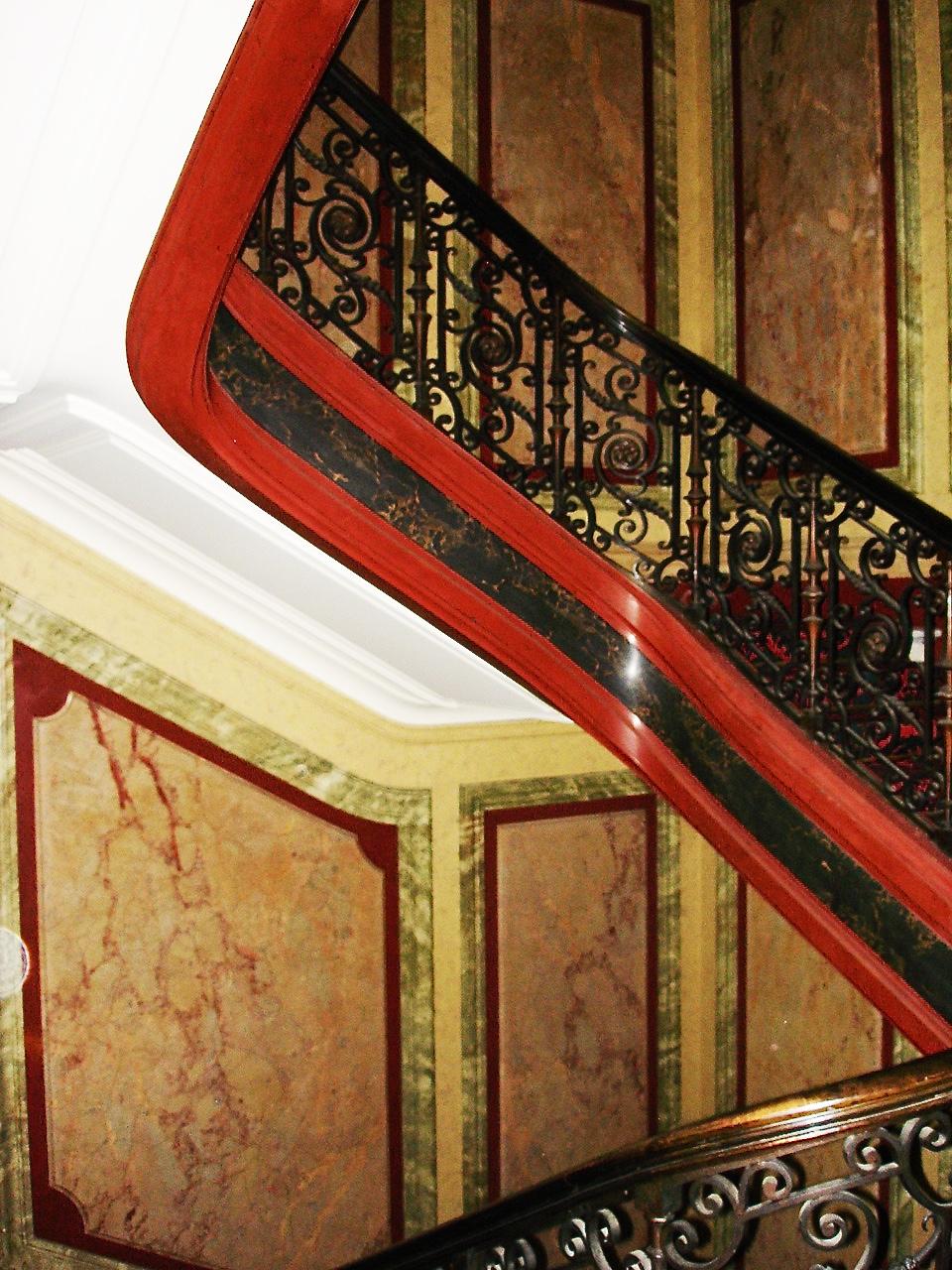 Faux marbre - Cage d'escalier - La Madeleine Paris - France