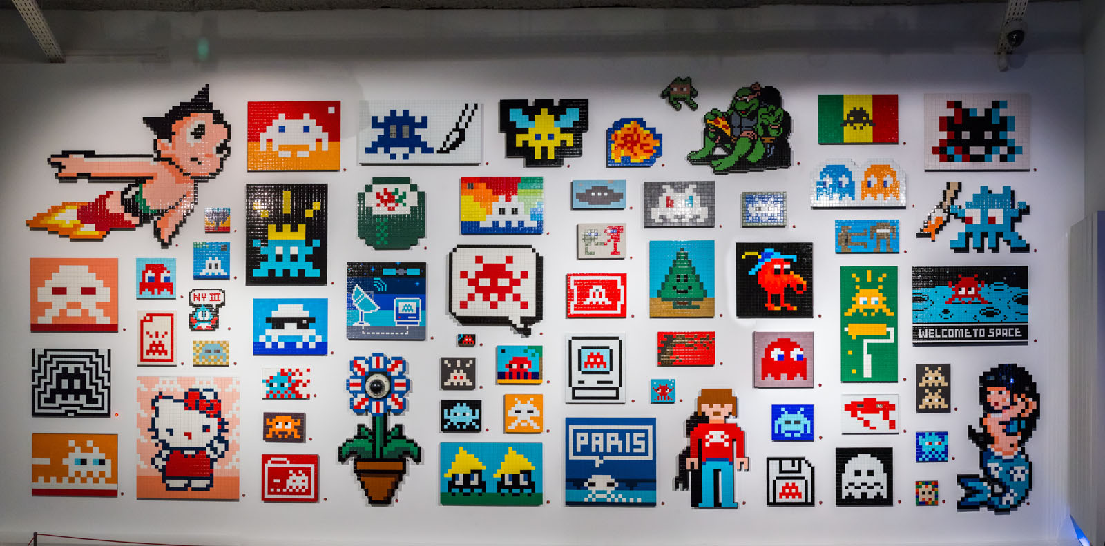 "Musée en Herbe - Exposition Invader ""Hello, my game is..."" du 26/01/2017 au 03/09/2017 - Paris"