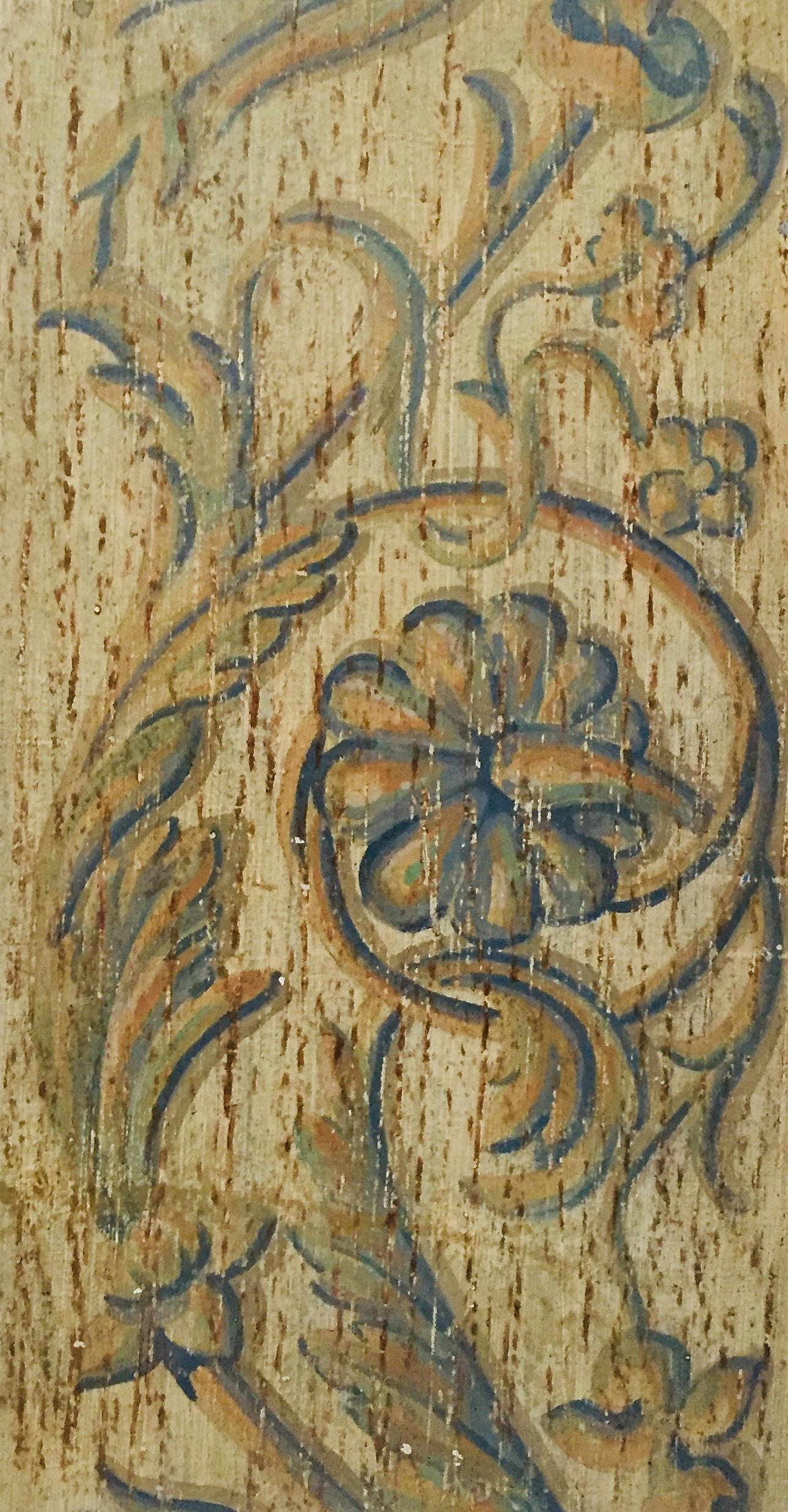 MV DECOR - Ornementation florale. Peinture sur bois.