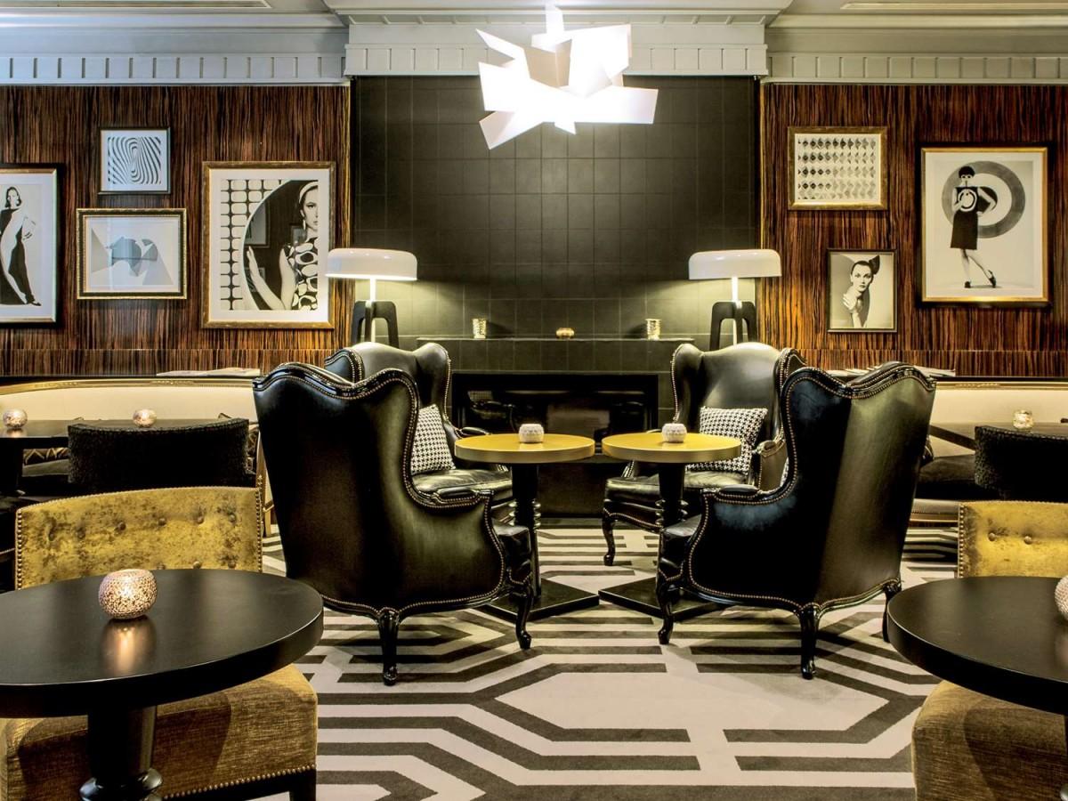 MV DECOR - Rénovation des boiseries du bar-restaurant du SOFITEL PARIS LE FAUBOURG.